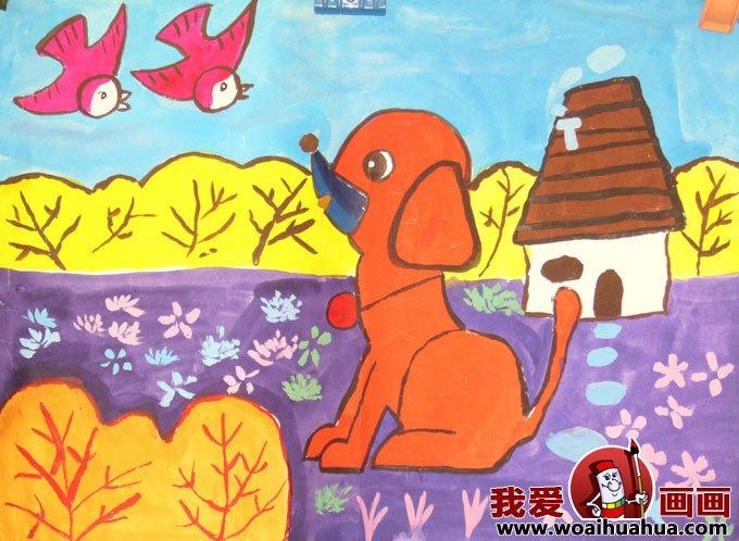 design 春天的燕子儿童画  儿童画袋鼠妈妈和小袋鼠_六一儿童网