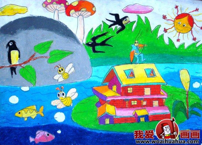 儿童画春天的图片:关于春天的儿童画作品大全(10)