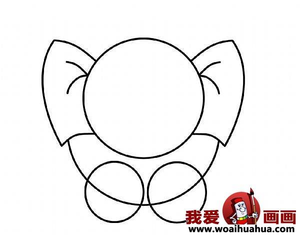 儿童简笔画大象的步骤 教你怎么画大象 3