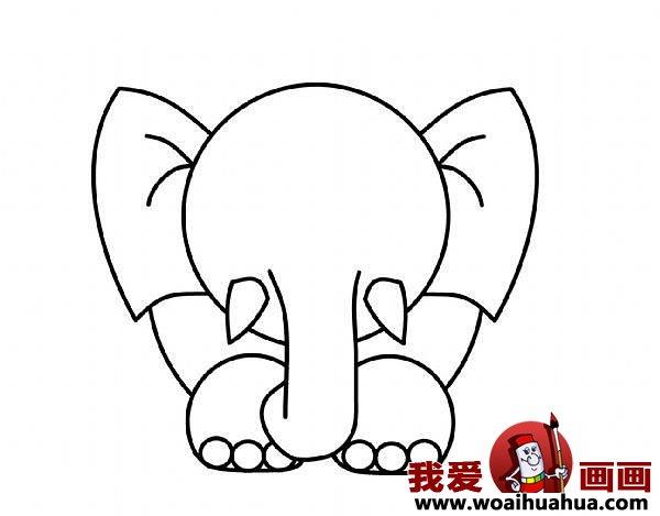 教你怎么畫大象(5)-兒童畫畫