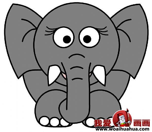儿童简笔画大象的步骤 教你怎么画大象 7