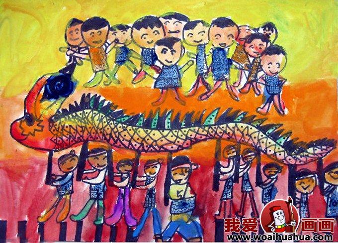 画画 儿童画教程 儿童画欣赏 > 儿童画欢度春节图片:小朋友欢喜过新年图片