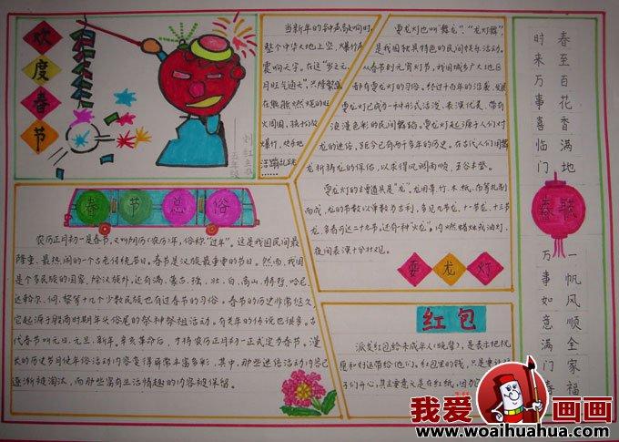 春节手抄报设计图,春节手抄报版面设计图片(5)