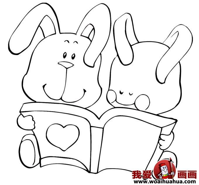 小兔子简笔画,兔子简笔画图片大全