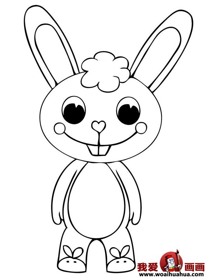 小兔子简笔画,兔子简笔画图片大全(4)
