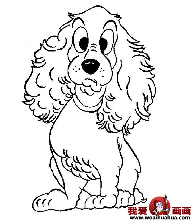 小狗的简笔画,儿童简笔画狗图片 3