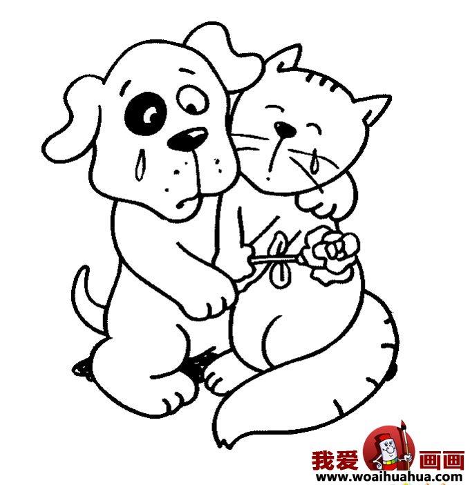 可爱小狗画图片大全_狗的卡通画图片