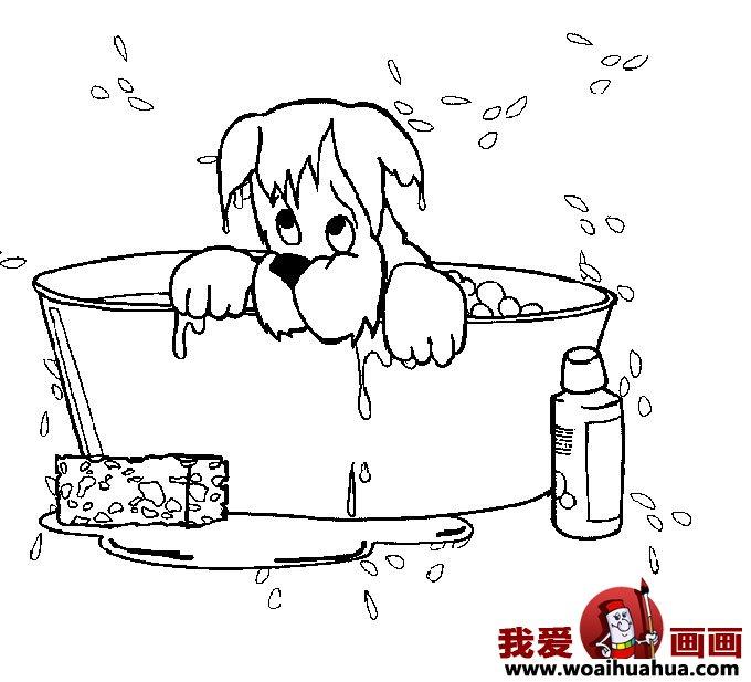 小狗的简笔画,儿童简笔画狗图片 6