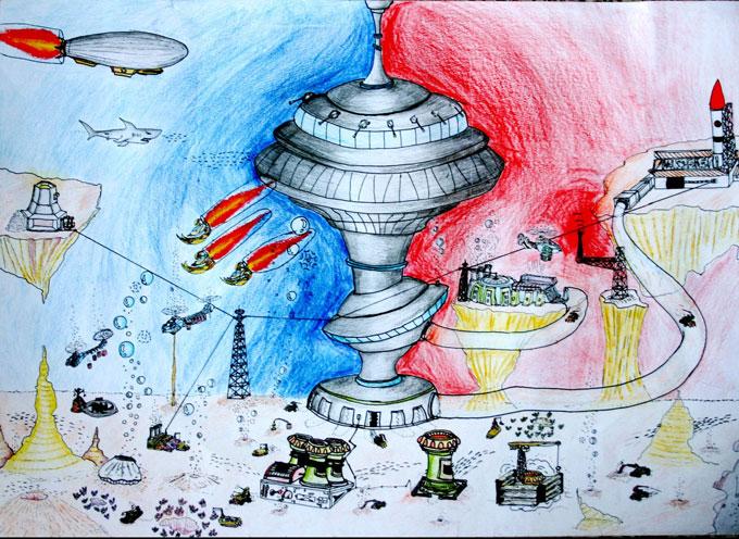 幼儿科幻画 幼儿科幻画获奖优秀作品图片