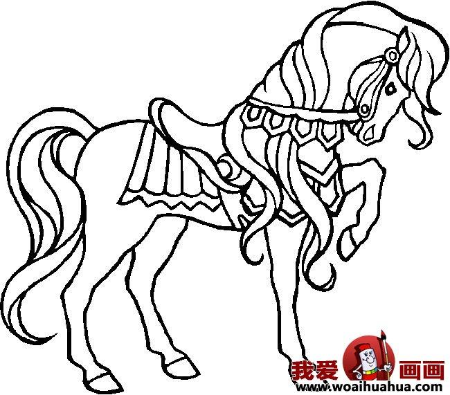 简笔画马,关于马的简笔画10副(3)图片