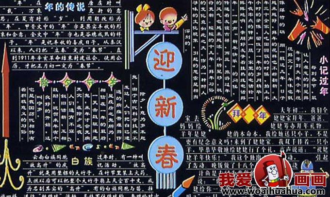 2013年迎春节黑板报,关于春节的黑板报设计图片 4