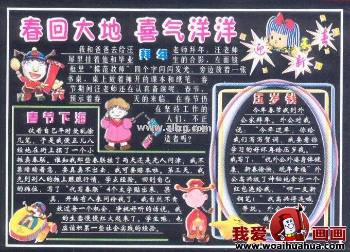 春节黑板报版面设计图片欣赏(2)