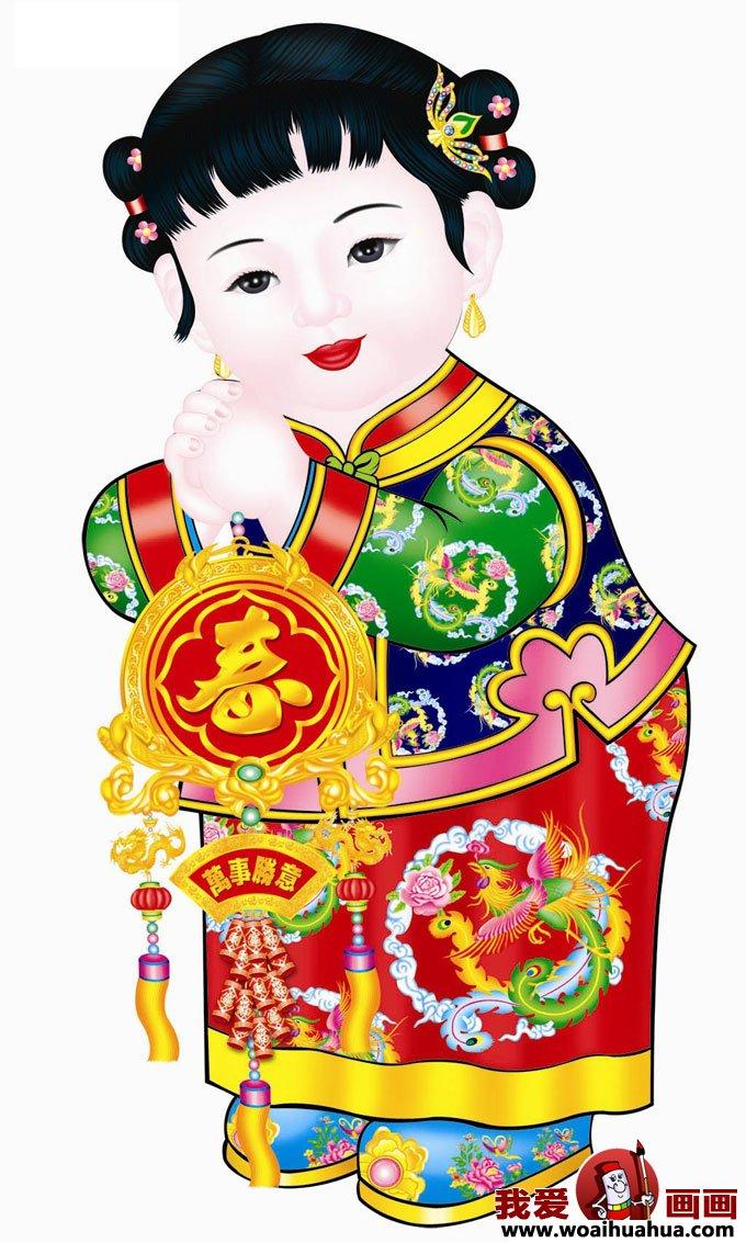 儿童年画图片欣赏,小朋友过春节喜庆图片(6)