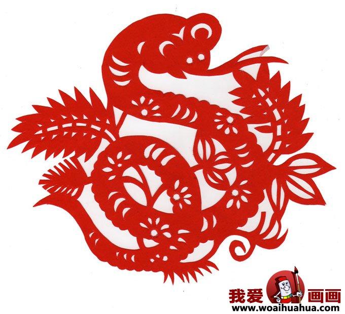 迎春节蛇年蛇的剪纸图片大全(2)