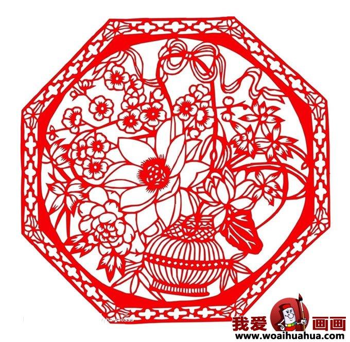 民间剪纸:新年窗花剪纸图案大全(4)