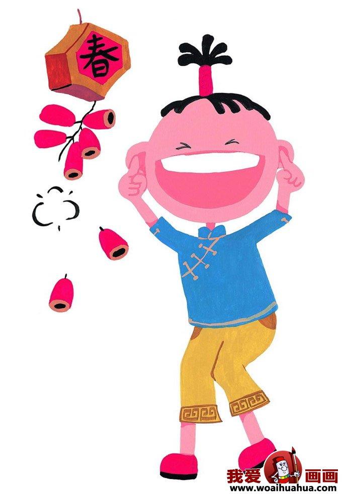 小朋友过年图片,儿童过春节卡通图片大全(4)