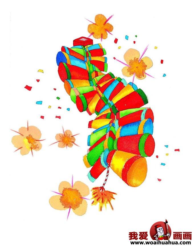 有关小朋友过年图片过春节图片大全(7)_儿童画欣赏_儿童画_我爱画画网图片