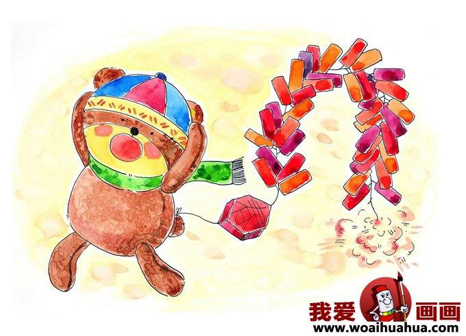 儿童年画图片欣赏小朋友过春节喜庆图片 6 儿童画