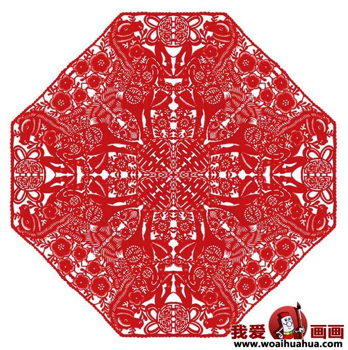 剪纸图案大全 各种民间窗花剪纸图案集锦上(4)