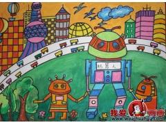 科技幻想画:优秀科技画图片获奖儿童作品