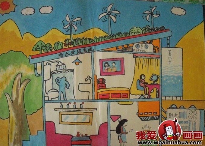 科技幻想画:优秀科技画图片获奖儿童作品(5)