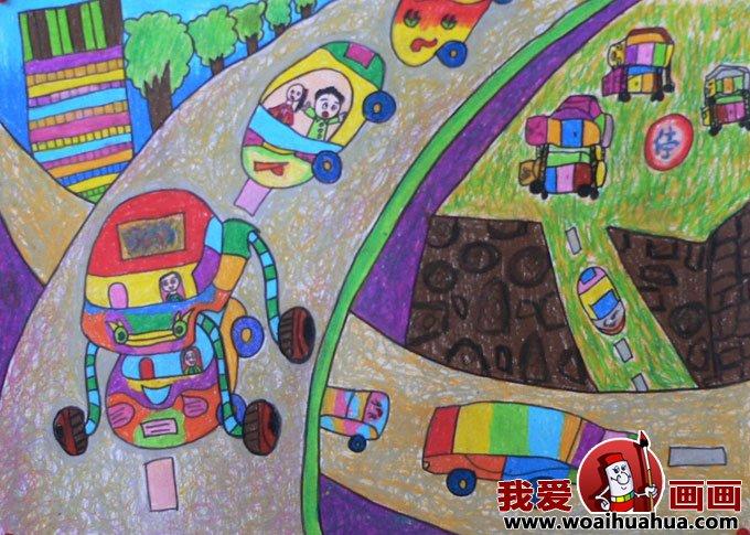 科技幻想画:优秀科技画图片:未来的汽车和公路