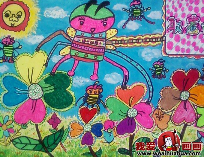 科技幻想画 优秀科技画图片获奖儿童作品 8
