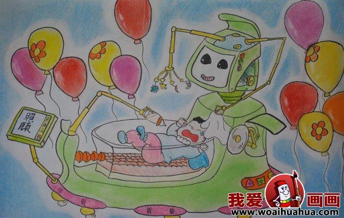 科技幻想画:优秀科技画图片获奖儿童作品(10)图片