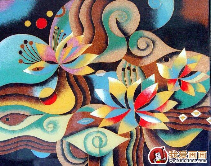 幼儿园装饰画:抽象的花纹