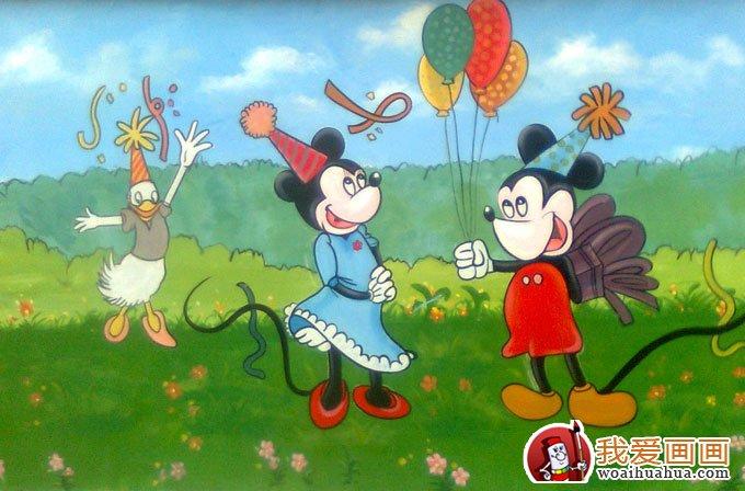 幼儿园装饰画:米老鼠和唐老鸭