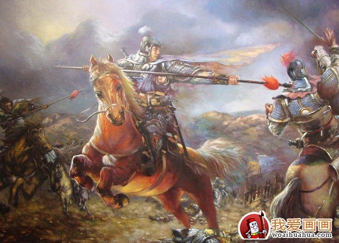 中国古代战争人物油画图片集锦欣赏