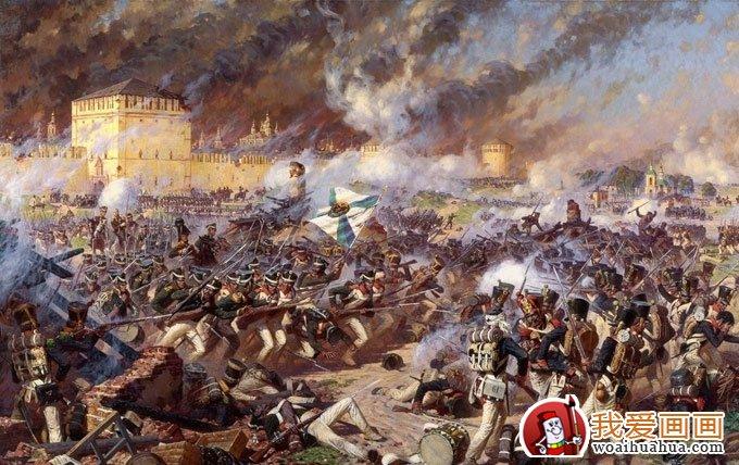 宏大惨烈的欧洲古代战争场面油画作品图片(3)