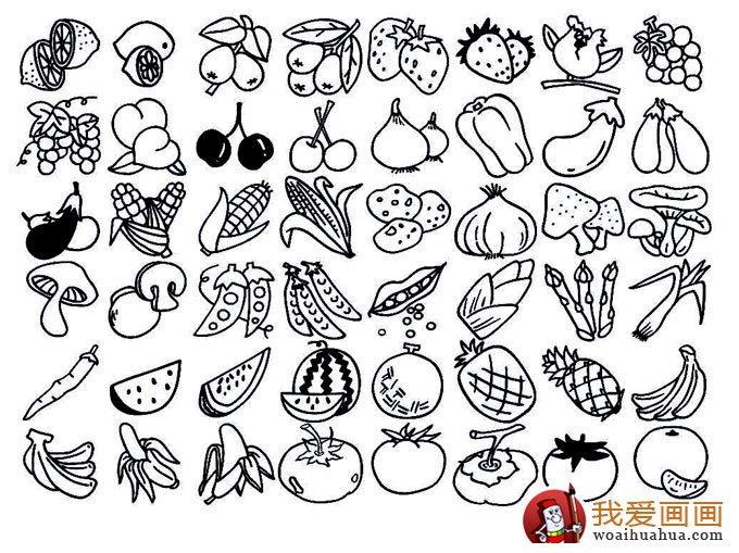 水果简笔画大全; 幼儿蔬菜水果简笔画
