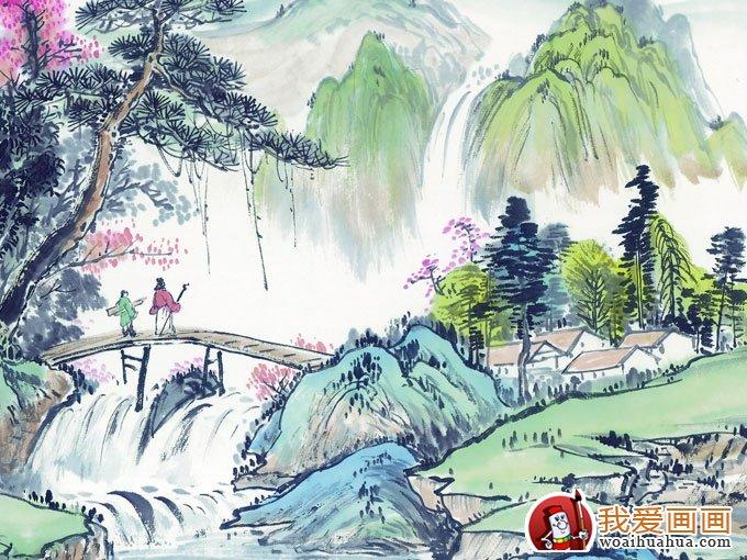 360壁纸绘画图片 山水画风景画360壁纸大全 8图片
