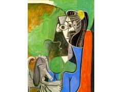 毕加索的画,毕加索抽象人物画作品