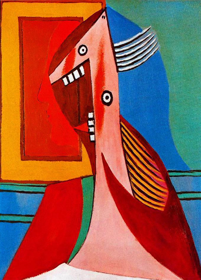 毕加索抽象画作品 毕加索的画,毕加索抽象人物画