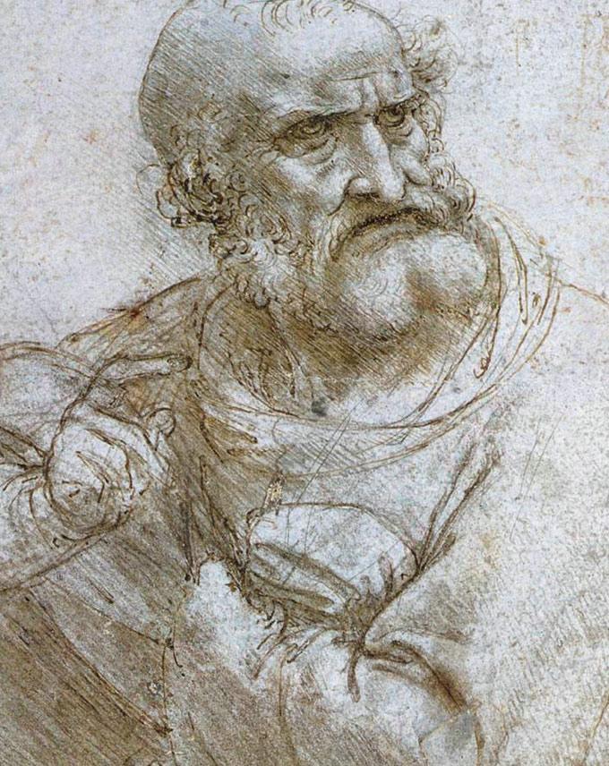 ,达芬奇的人物素描绘画作品大全