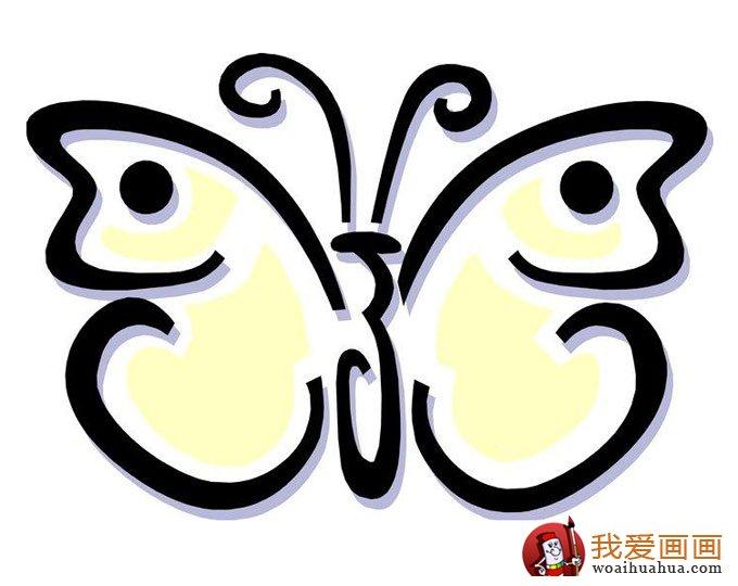 儿童简笔画蝴蝶,美丽的花蝴蝶简笔画图片(3)