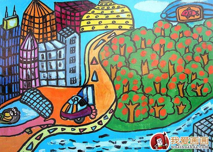 关于环保的画,低碳环保儿童画优秀作品图片欣赏 4