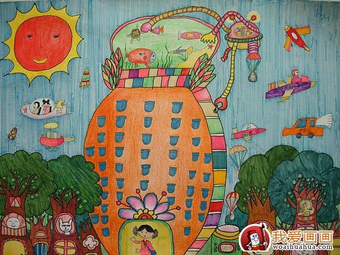关于环保的画,低碳环保儿童画优秀作品图片欣赏