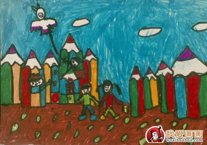关于环保的画,低碳环保儿童画优秀作品图片欣赏 2