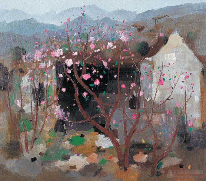 吴冠中的画,吴冠中油画风景作品图片