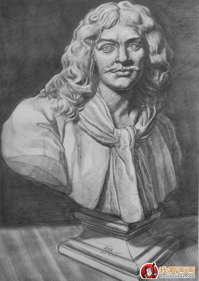 石膏像素描写生需要注意的几个要领_素描教程_学画画