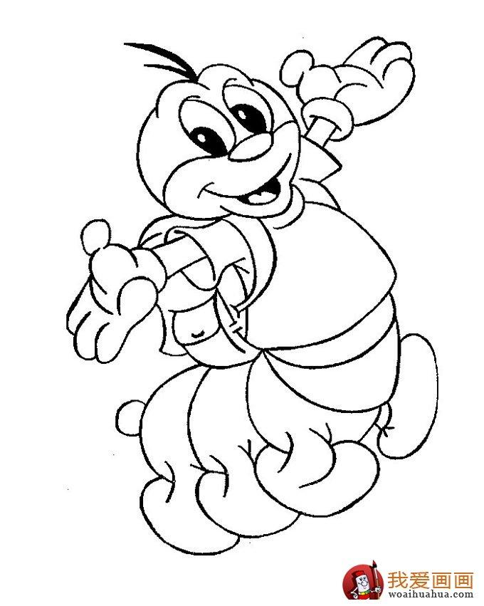 13副毛毛虫儿童简笔画:毛毛虫简笔画可爱图片(6)