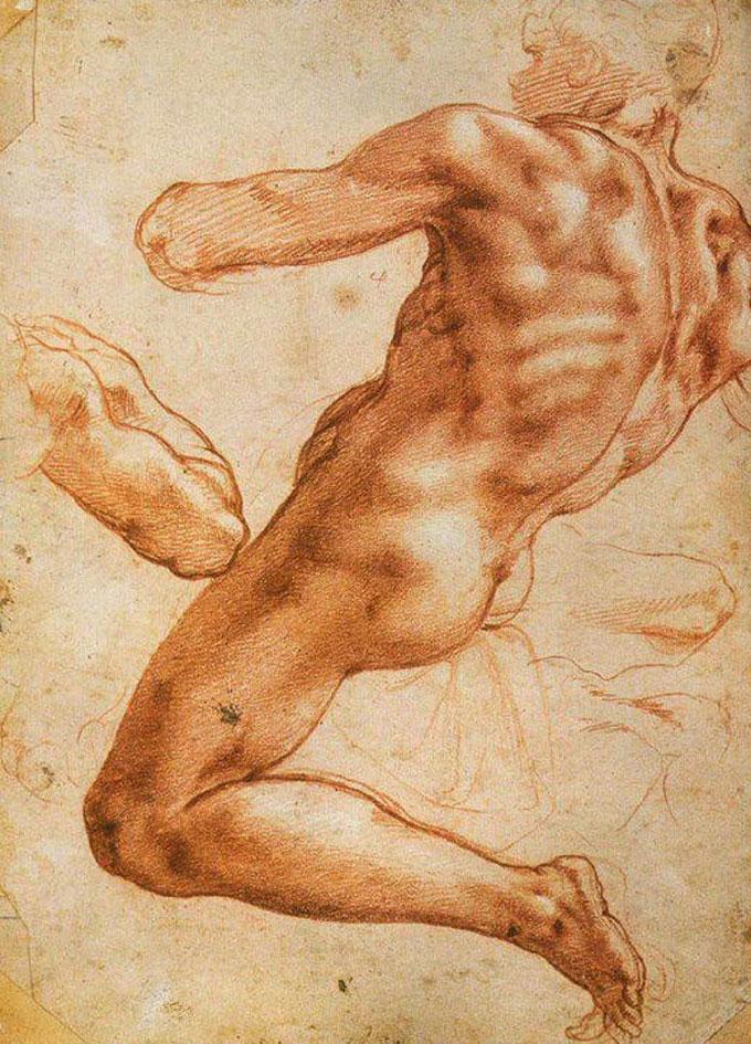 米开朗基罗人物人体素描作品大全