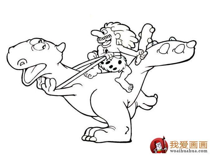 恐龙简笔画,儿童简笔线描画恐龙图片大图10张