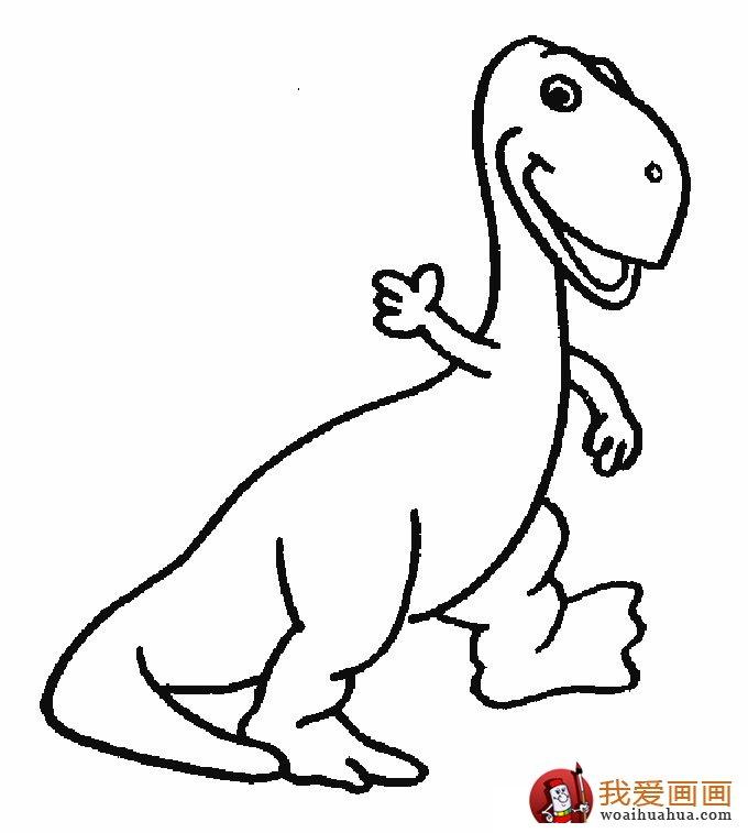 恐龙简笔画,儿童简笔线描画恐龙图片大图10张(6)