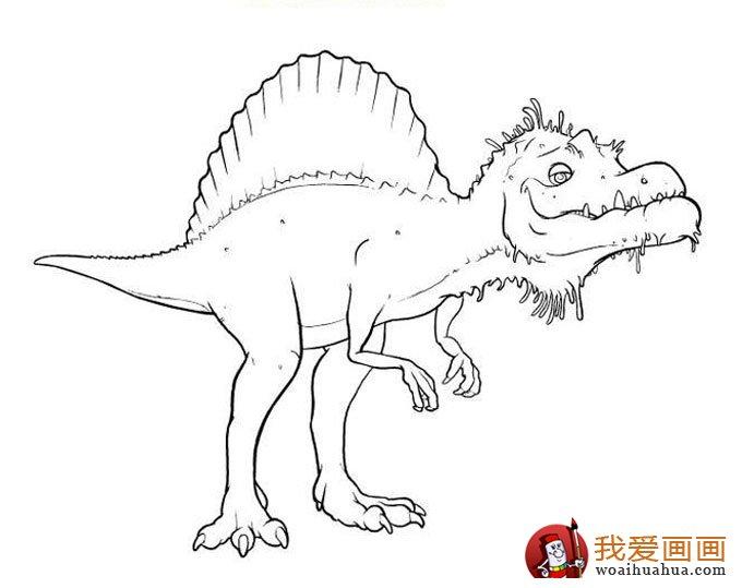 恐龙简笔画,儿童简笔线描画恐龙图片大图10张(7)