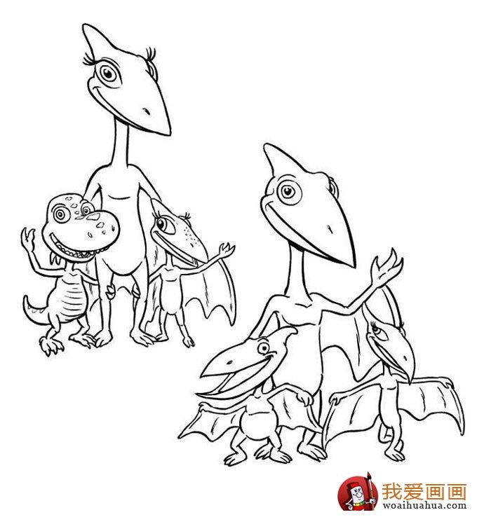 恐龙简笔画,儿童简笔线描画恐龙图片大图10张(8)