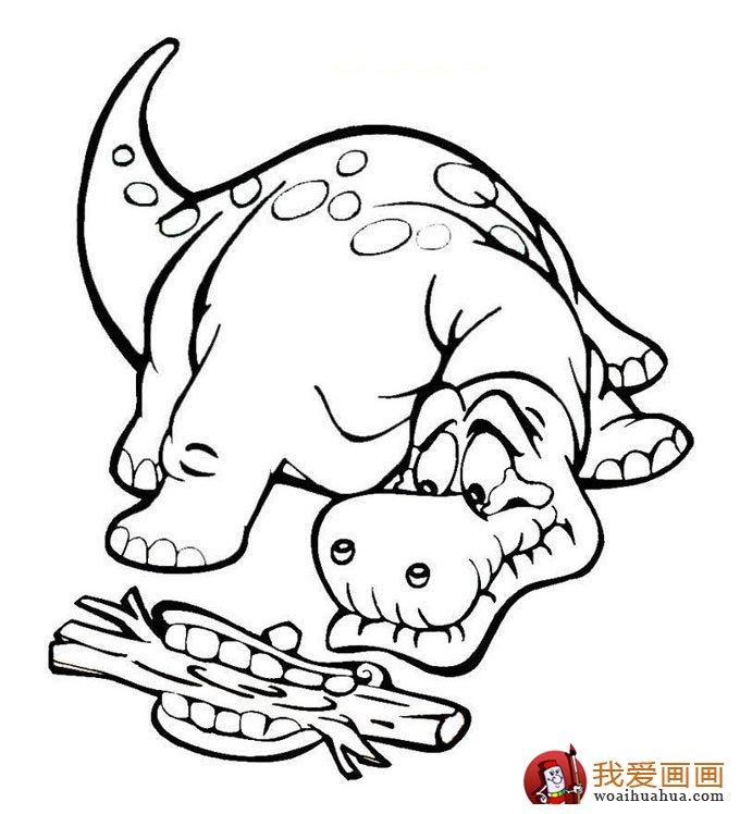 恐龍簡筆畫,兒童簡筆線描畫恐龍圖片大圖10張(10)